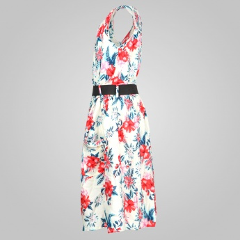 MAX Printed Belted Dress
