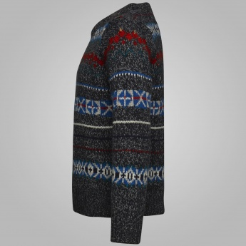 MAX Textured Knitted Full Sleeves Sweater