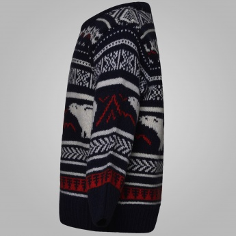 MAX Grizzly Bears Full Sleeves Sweater