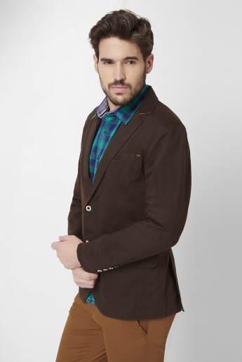 MAX Notched Lapel Collar Single-Breasted Blazer