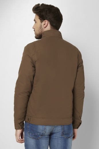 MAX Stand Collar Front Zip Jacket