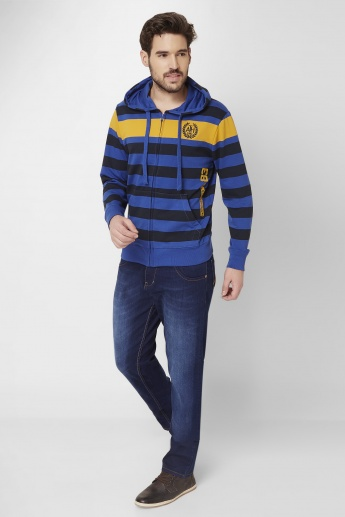 MAX Striped Hooded Sweatshirt