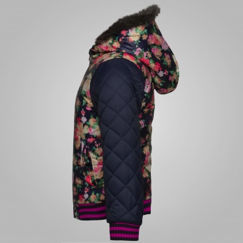 MAX Floral Print Hooded Jacket
