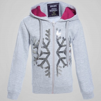 MAX Girls Snowflake Hooded Sweatshirt