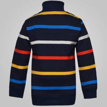 MAX Striped Zip-Up Sweatshirt