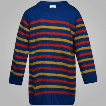 MAX Striped Full Sleeves Sweater