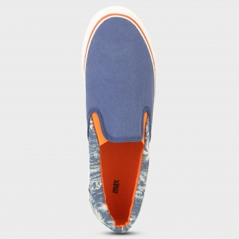 MAX Tropical Canvas Slip-On Shoes