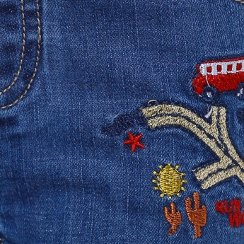MAX School Bus Embroidered Jeans