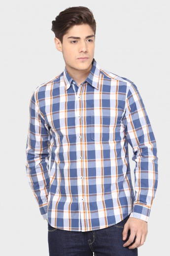 MAX Bold Checks Print Full Sleeves Shirt