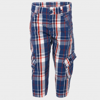 MAX Plaid Check Cargo Shorts
