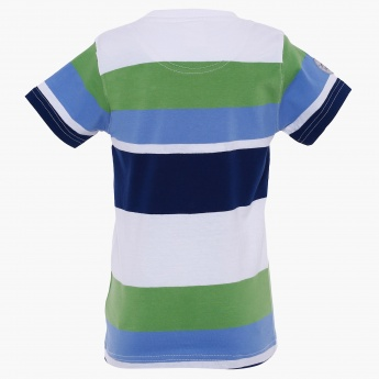 MAX Crew Neck Striped T-Shirt