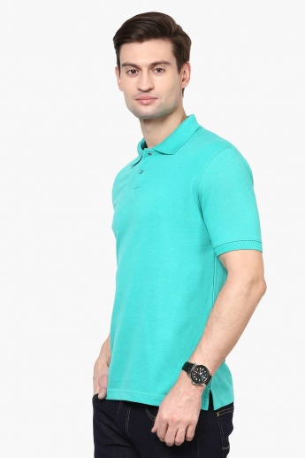MAX Solid Polo Neck T-Shirt