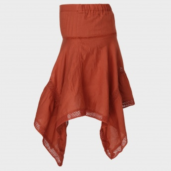 MAX Solid Asymmetric Hem Skirt