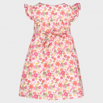 MAX Floral Print Square Neck Dress
