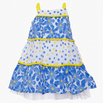 MAX Printed Tiered Strapped Dress