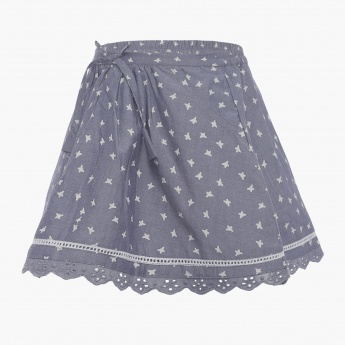 MAX Butterfly Print Skirt