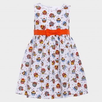 MAX Cupcake Print Sleeveless Dress