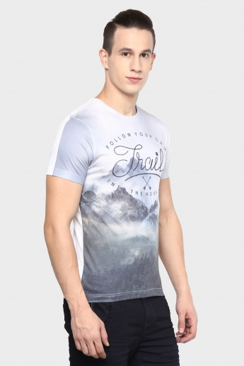 MAX Digital Print Crew Neck T-Shirt