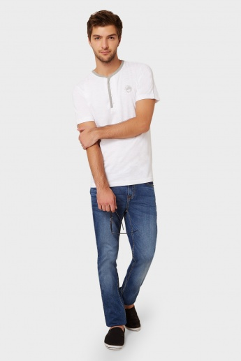 MAX Henley Neck Cotton T-Shirt