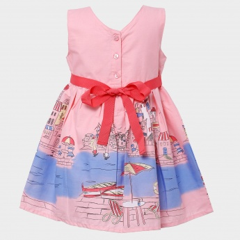 MAX Coastal Holiday Bow Detail Dress