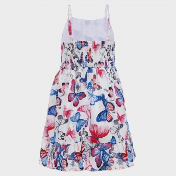 MAX Butterfly Print Strappy Dress