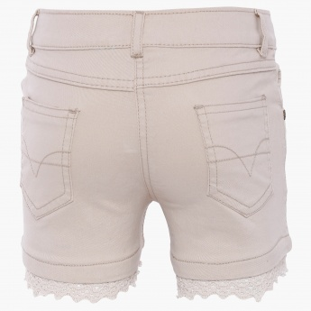 MAX Denim Lace Trim Shorts