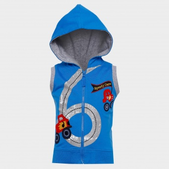 MAX Sleeveless Zip-Up Hoodie