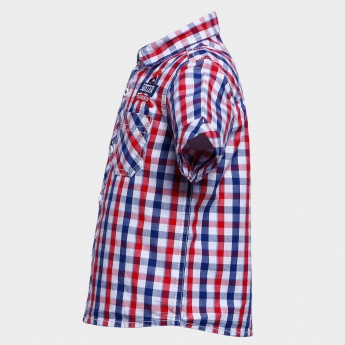 MAX Half Sleeves Check Shirt