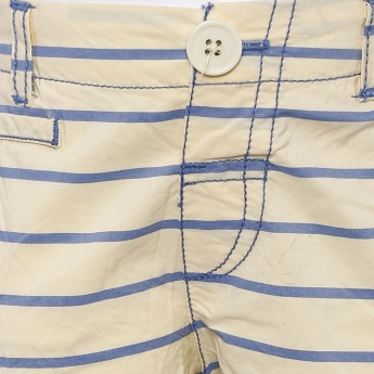 MAX Striped Pocketed Bermuda