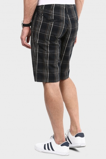 MAX Tartan Checks Printed Shorts