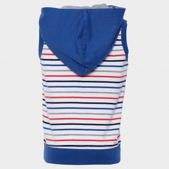MAX Striped Zip-Up T-Shirt