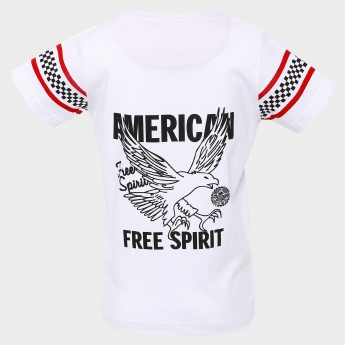MAX Lucky Eagle Print T-Shirt