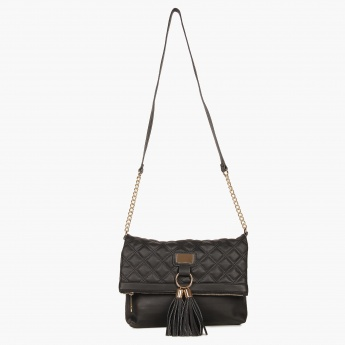 MAX Quilted Tasselled Sling Bag