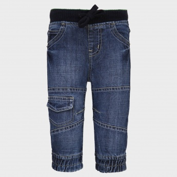 MAX Slim Fit Elasticated Waist Jeans