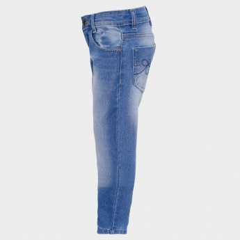 MAX Stonewashed Five Pocket Jeans