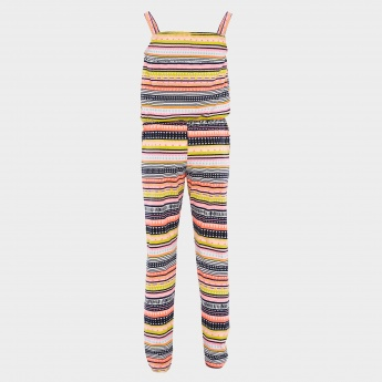 MAX Aztec Striped Jumpsuit