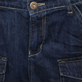 MAX Pocketed Stonewashed Jeans