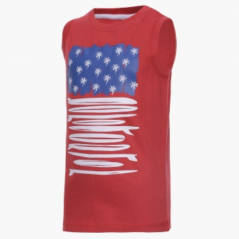 MAX Graphic Print Sleeveless T-Shirt