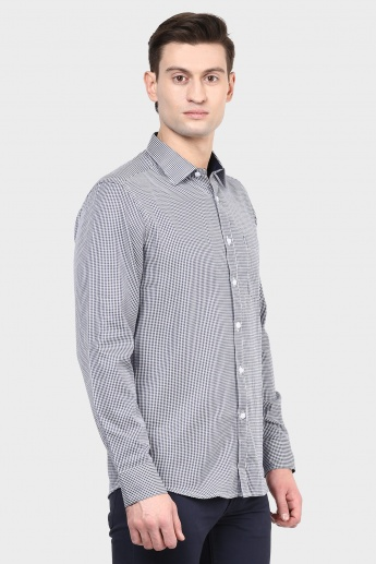 MAX Houndstooth Check Slim Fit Shirt