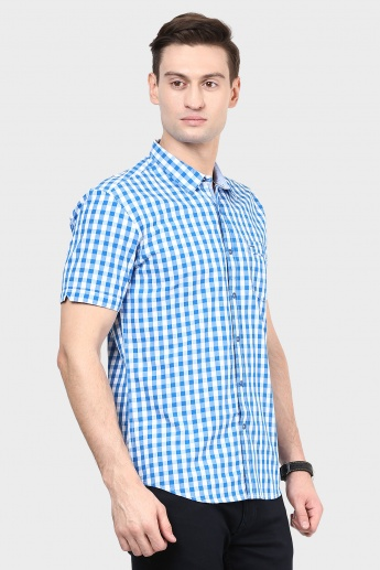 MAX Gingham Check Slim Fit Shirt
