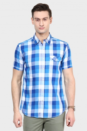 MAX Checked Half Sleeves Shirt