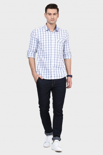 MAX Windowpane Check Slim Fit Shirt
