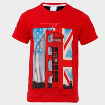 MAX Red Exit Graphic Print T-Shirt