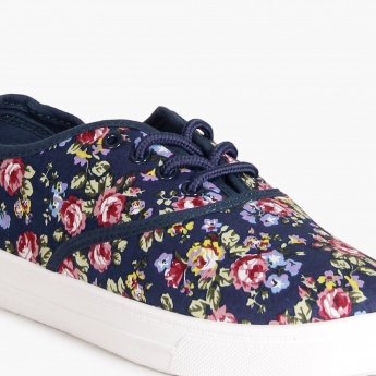 MAX Floral Print Canvas Shoes