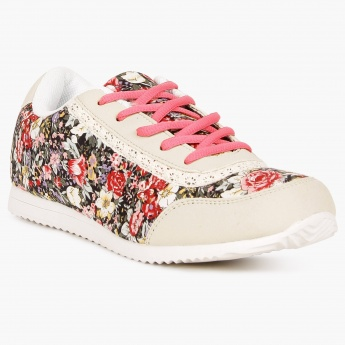 MAX Floral Print Laceups