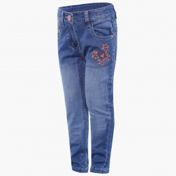 MAX Slim Fit Embroidered Jeans