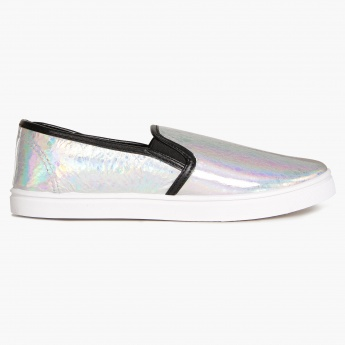 MAX Holographic Slip Ons
