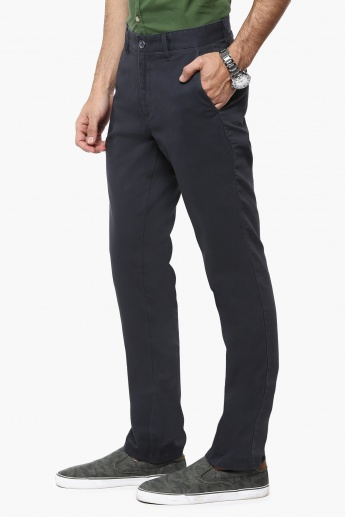 MAX Solid Slim Fit Pants