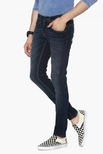 MAX Whiskered Low Rise Jeans