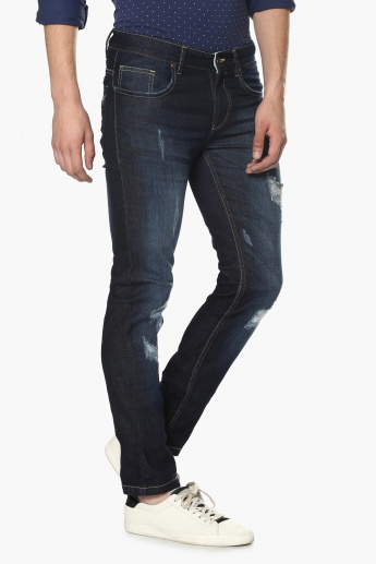 MAX Whiskered Ripped Jeans